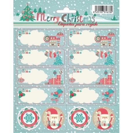 Etiquetas Escolares Navidad Aviany
