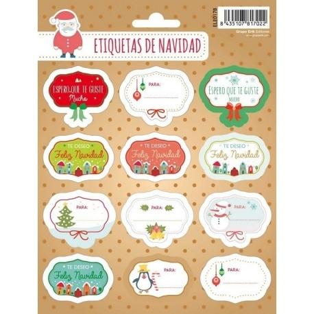 Etiquetas Navidad Mensajitos