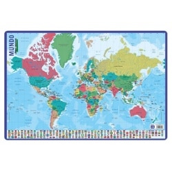 Lamina Didactica Mapa Del Mundo