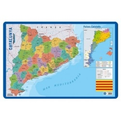 Lamina Educativa Catalan Mapa Catalunya