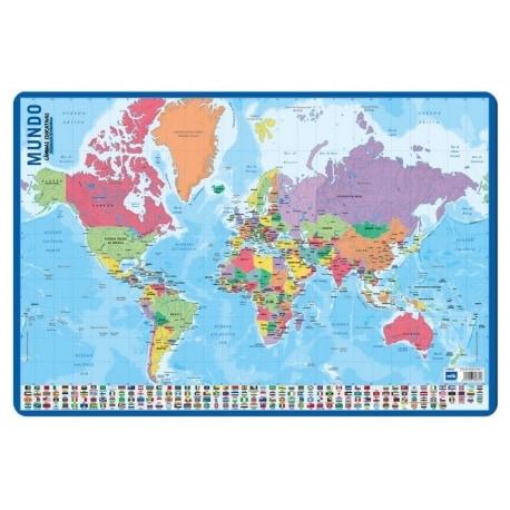 Lamina Educativa Mapa Del Mundo