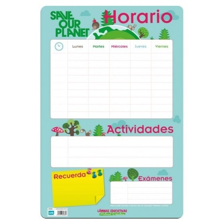 Lamina Educativa Horario Escolar