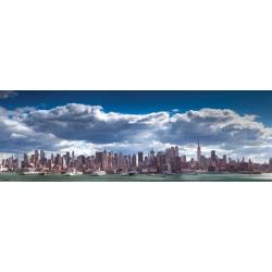 Poster Puerta Manhattan Skyline