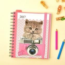 Agenda 2017 Semana Vista Studio Pets Cats
