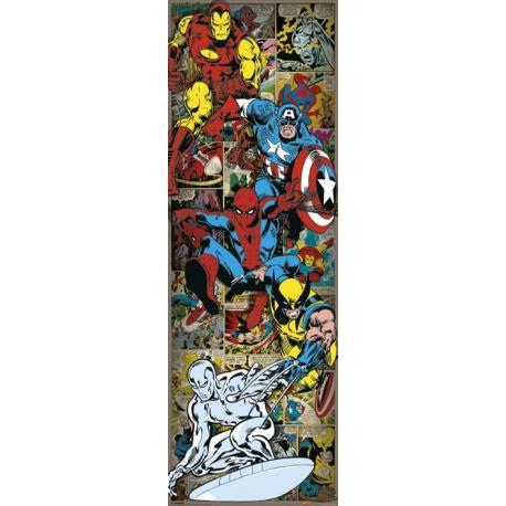 Poster Puerta Marvel Comics Heroes