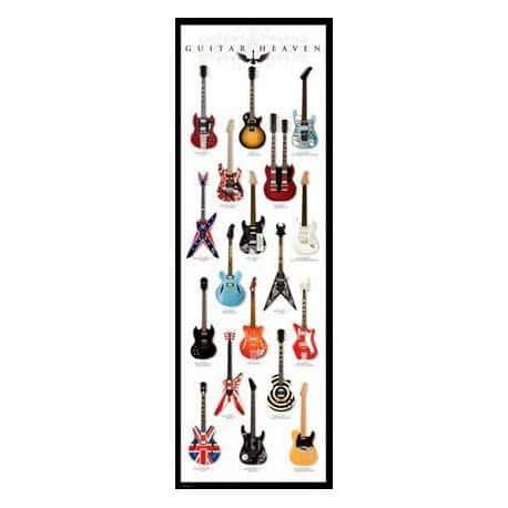 Poster Puerta Guitar Heaven