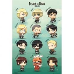 Maxi Poster Attack on Titan Personajes Chibi