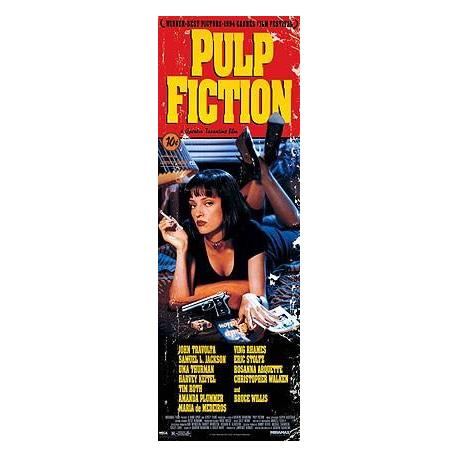 Poster Puerta Pulp Fiction Uma On Bed