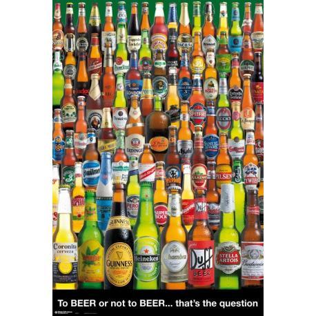 Poster Cervezas Beber O No Beber