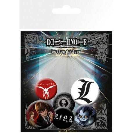 Pack de Chapas Death Note Mix