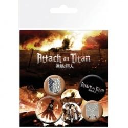Pack de Chapas Attack On Titan Characters