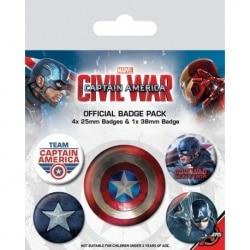 Pack de Chapas Capitan America Guerra Civil