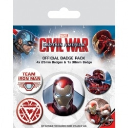 Pack de Chapas Capitan America Iron Man