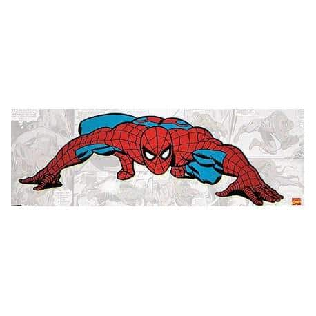 Poster Puerta Spiderman Crawling