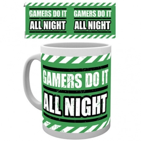 Taza Gaming All Night