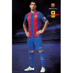 Poster Fc Barcelona 2016/2017 Suarez Pose