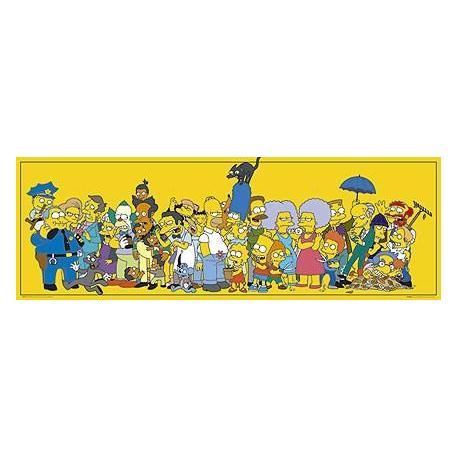 Poster Puerta Los Simpsons Estrellas