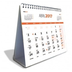 Calendario Sobremesa Deluxe 2017 Generico