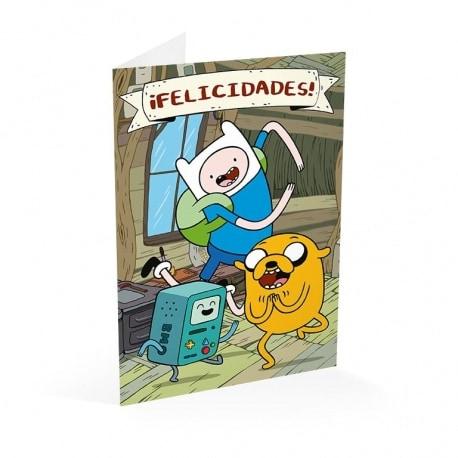 Tarjeta Felicitacion Adventure Time