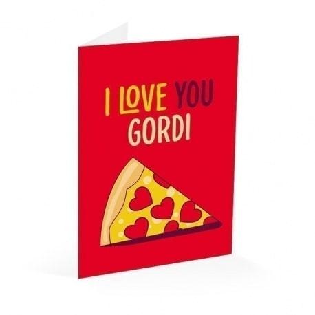 Tarjeta Felicitacion I Love You Gordi