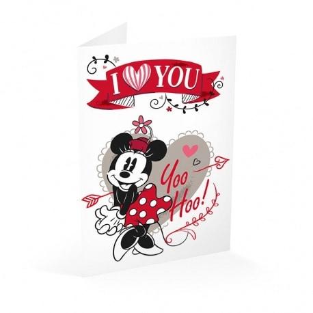 Tarjeta Felicitacion Minnie