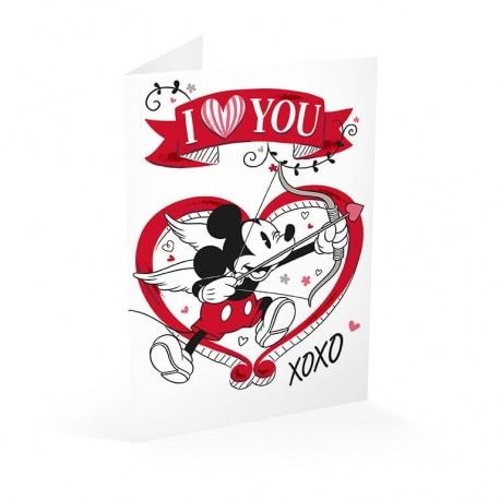 Tarjeta Felicitacion Mickey