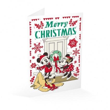 Tarjeta Felicitacion Mickey Merry Christmas