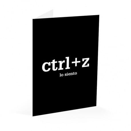 Tarjeta Felicitacion Ctrl+Z Lo Siento