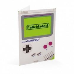 Tarjeta Felicitacion Gamer Felicidades Gamer Boy