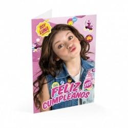Tarjeta Felicitacion Soy Luna Feliz Cumpleaños