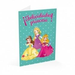 Tarjeta Felicitacion Disney Princesas