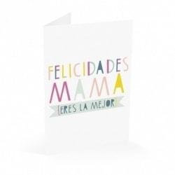 Tarjeta Felicitacion Felicidades Mama Eres La Mejor
