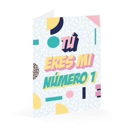 Tarjeta Felicitacion Eres Mi Nº1