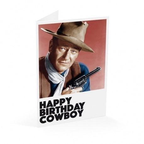 Tarjeta Felicitacion Happy Birthday Cowboy