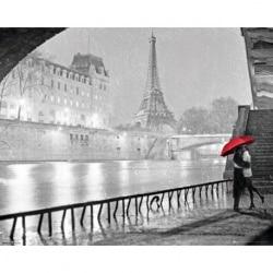 Mini Poster Paris Eiffel Tower Kiss