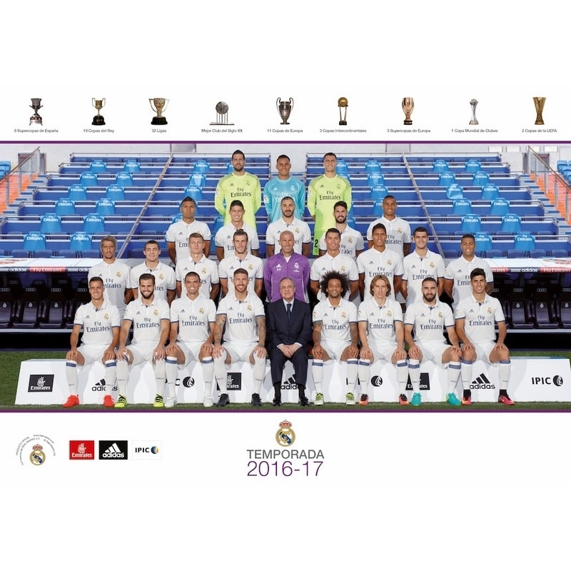 Postal A5 Real Madrid 2016/2017 Plantilla - Nosoloposters.com