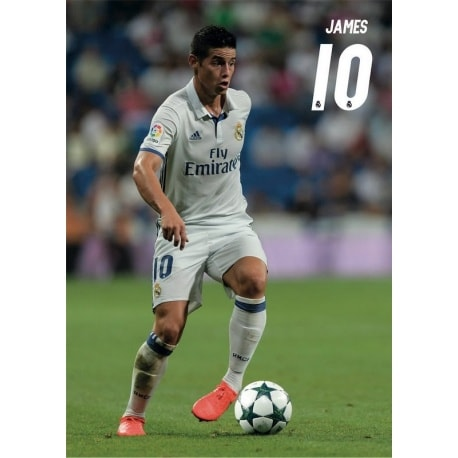 POSTAL A4 REAL MADRID A4 2016/2017 JAMES ACCION