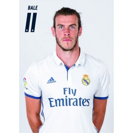 POSTAL A4 REAL MADRID A4 2016/2017 BALE BUSTO
