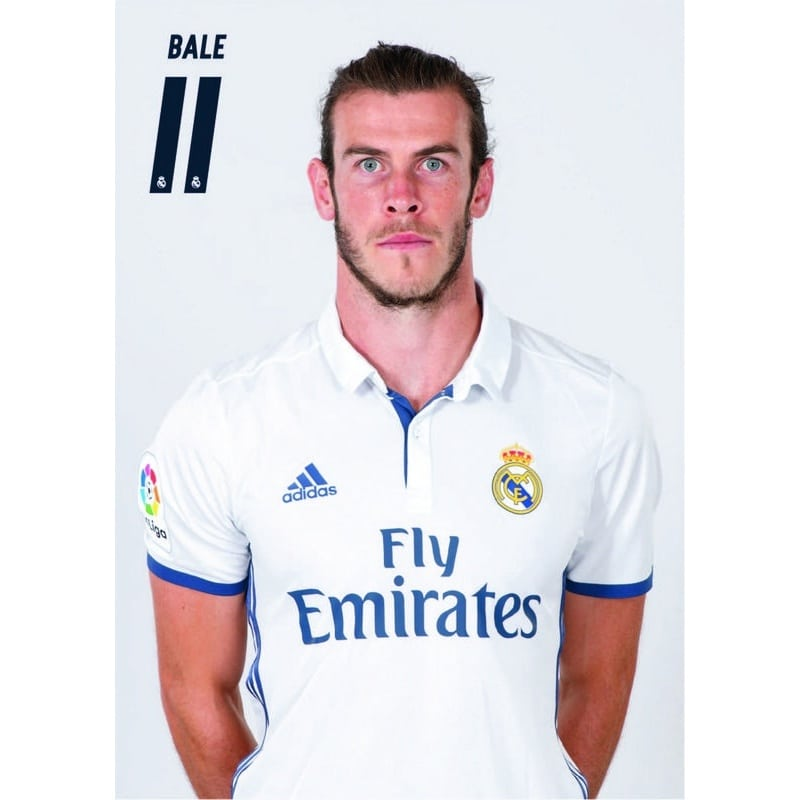 POSTAL A4 REAL MADRID A4 2016/2017 BALE BUSTO - Nosoloposters.com