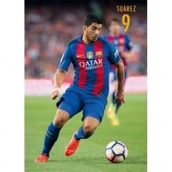 POSTAL FC BARCELONA 2016/2017 SUAREZ ACCION