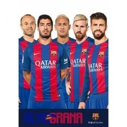 POSTAL A4 FC BARCELONA 2016/2017 GRUPO JUGADORES