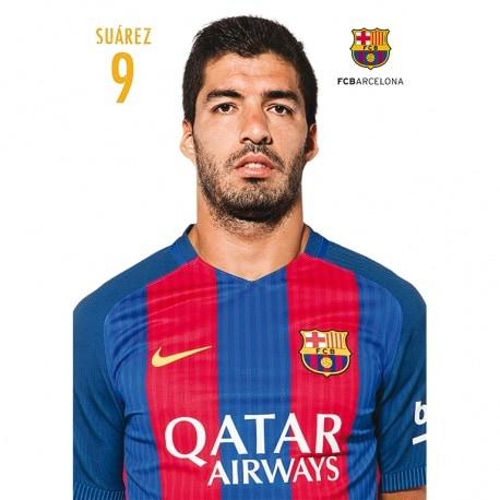 POSTAL FC BARCELONA A4 2016/2017 SUAREZ