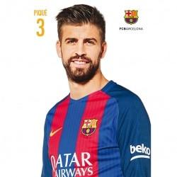POSTAL FC BARCELONA A4 2016/2017 PIQUE