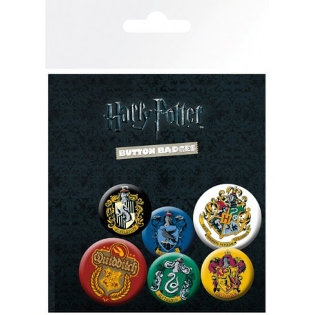 Pack de Chapas Harry Potter Crests