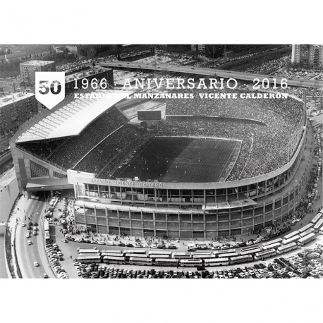 Postal Atletico Madrid 2016/2017 Estadio 50 Aniversario