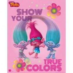 Mini Poster Trolls Muestra tus verdaderos colores