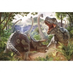 Poster Batalla de Dinosaurios