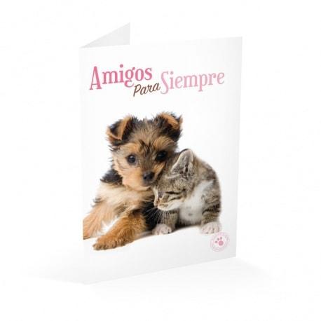 Tarjeta Felicitacion Studio Pets Amigos Para Siempre