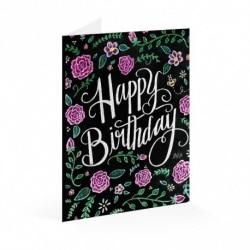 Tarjeta Felicitacion Lily & Val Happy Birthday