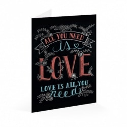 Tarjeta Felicitacion Lily & Val All You Need Is Love